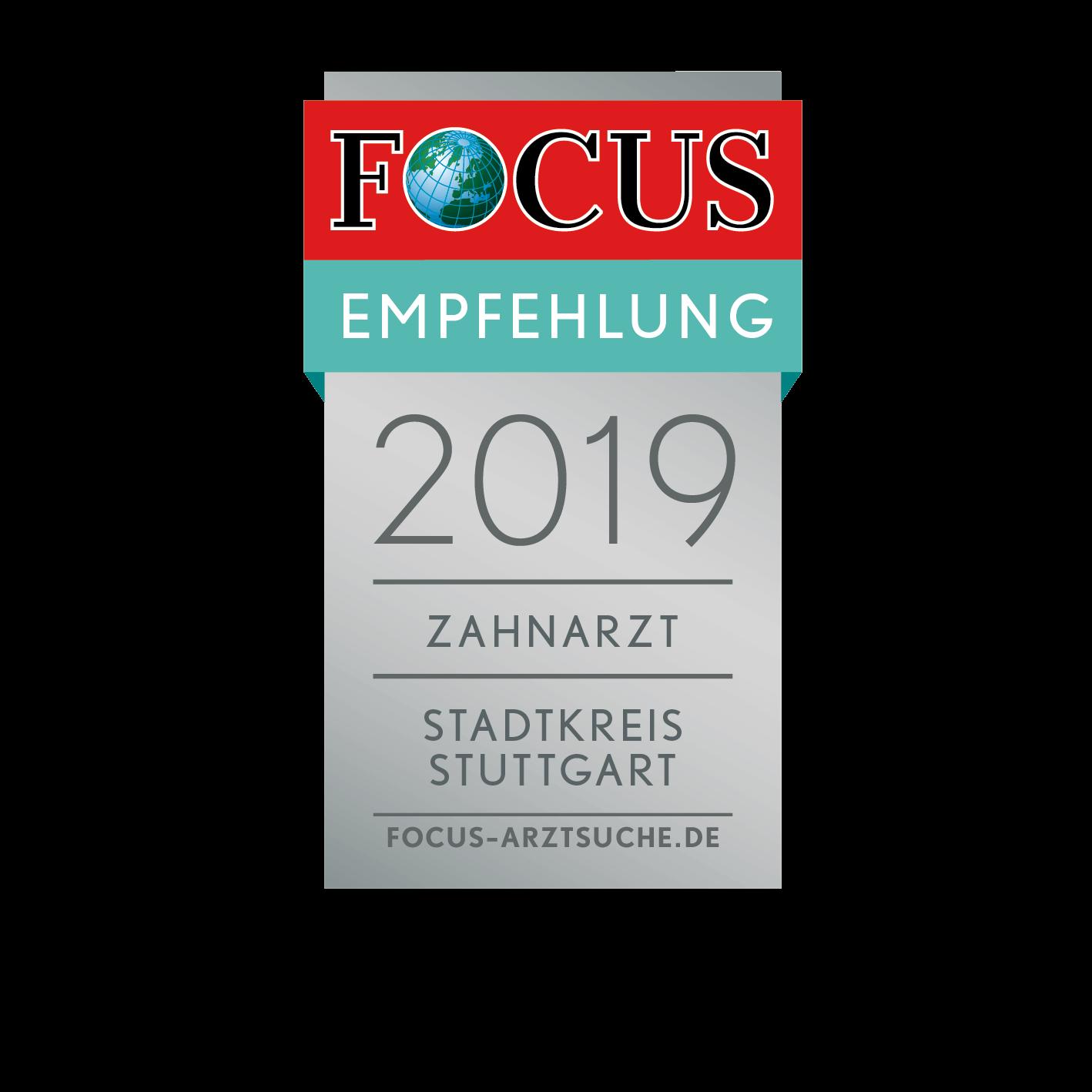 Focus Empfehlung Zahnarzt Stuttgart Dr. Strohkendl